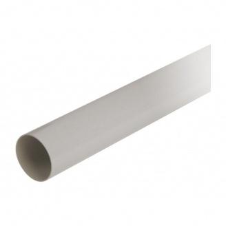Труба водосточная с муфтой Nicoll 33 100 мм белый