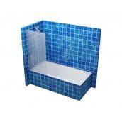Стеклянная перегородка для ванны S-MIX 800 мм