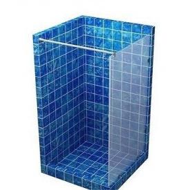 Скляна перегородка для душу S-MIX 1900 мм