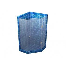 Душевая кабина S-MIX 135 градусов с распашной дверью на стекле 700x700 мм