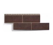 Фасадная панель Альта-Профиль Камень Неаполитанский 1250х450х26 мм коричневый