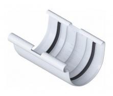 Муфта желоба Альта-Профиль Элит 125 мм белый