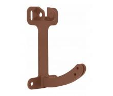 Поворотный элемент кронштейна Альта-Профиль Стандарт 115 мм коричневый
