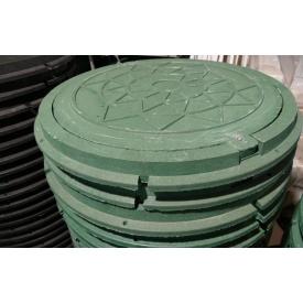 Люк полімерний із замикаючим пристроєм зелений