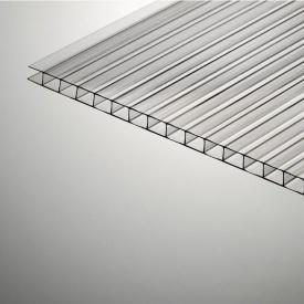 Стільниковий полікарбонат Plazit Polygal Стандарт 6000х2100х10 мм прозорий (Ізраїль)