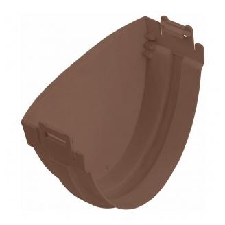 Заглушка желоба Альта-Профиль Стандарт 115 мм коричневый