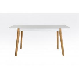 Дерев'яний стіл Сингл-2 Лофт Мікс-меблі 1300х770х800 мм білий
