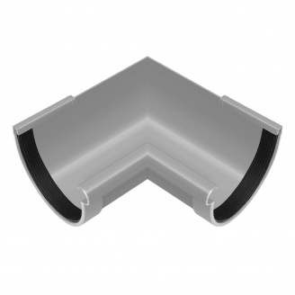 Угол желоба внутренний Rainway 90 градусов 130 мм серый