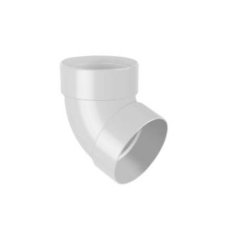 Отвод двухмуфтовый Rainway 67 градусов 75 мм белый
