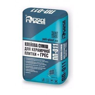 Клеевая смесь для керамической плитки + ГРЕС  Полипласт ПП-011 25 кг