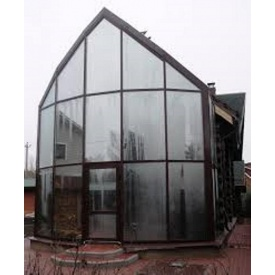 Панорамное остекление фасада. Монтаж фасада из стекла.