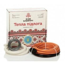 Нагревательный кабель Наш комфорт БНК-360 двухжильный 19 м