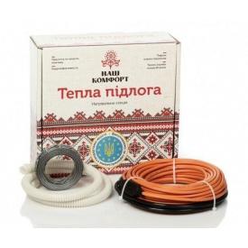 Нагревательный кабель Наш комфорт БНК-150 двухжильный 9 м