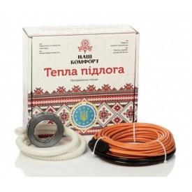 Нагревательный кабель Наш комфорт БНК-110 двухжильный 6 м