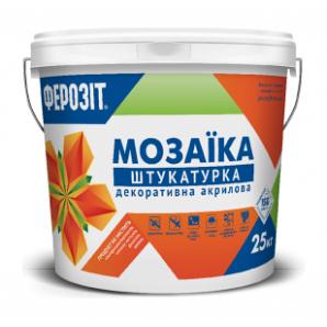 Декоративная штукатурка ФЕРОЗИТ 33 Мозаика акриловая 25 кг
