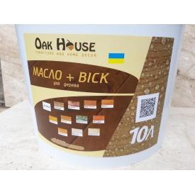Масло воск универсальный для обработки деревяных изделий 10 л венге