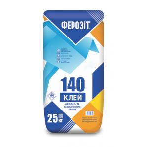 Кладочна суміш ФЕРОЗІТ 140 для піноблоків 25 кг