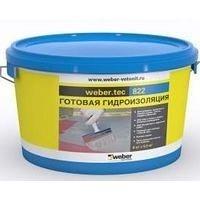 Эластичная полужидкая гидроизоляционная мастика weber.tec 822 1,2 кг/м2 8 кг light grey 8