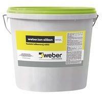 Фасадная силиконовая краска для насыщенных цветов weber.ton silicon 0,6 кг/м2 25 кг transparent base