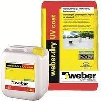 Гидроизоляционный шлам (компонент №1) weber.dry UV coat powder на цементной основе 20 кг белый