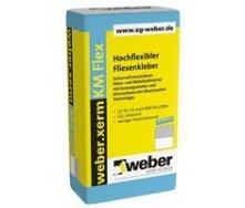 Клеевой раствор для плит крупного формата weber.xerm KM Flex 1,5 кг/м2 25 кг серый