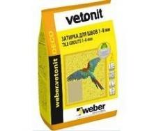 Цементная затирка для швов weber.vetonit DECO 1-8 мм 0,5 кг/м2 2 кг 24 SAHARA