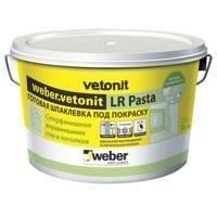 Готовая шпаклевка под покраску weber.vetonit LR Pasta на полимерном вяжущем 1 л/м2 5 кг