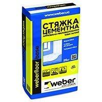 Цементна стяжка weber.floor base 10-80 мм 19 кг/м2 25 кг