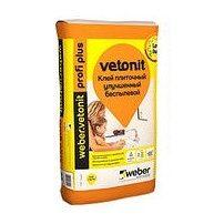 Клей эластичный для плитки и керамогранита weber.vetonit profi+ 1,5 кг/м2 25 кг серый