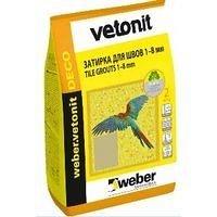 Цементная затирка для швов weber.vetonit DECO 1-8 мм 0,5 кг/м2 2 кг 1 WHITE