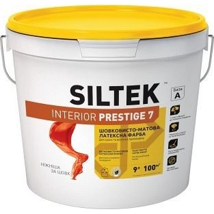 Краска латексная SILTEK Interior Prestige 7 особо прочная 9 л