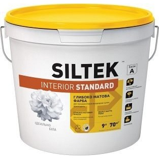 Краска глубокоматовая SILTEK Interior Standard 9 л