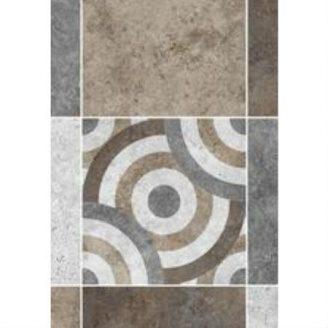 Керамическая плитка KERAMIN Калейдоскоп 3М 275х400 мм серо-коричневая матовая