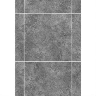 Керамическая плитка KERAMIN Калейдоскоп 2Т 275х400 мм серо-голубая матовая