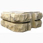 Элемент столба Харьковпрофбетон ПП Skala 350х350х150 мм песочный