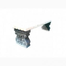 Ножка скамейки Харьковпрофбетон Классика 410х410 мм серая