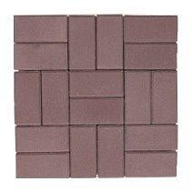 Тротуарная плитка ЭКО Кирпич 200х100х40 мм коричневая
