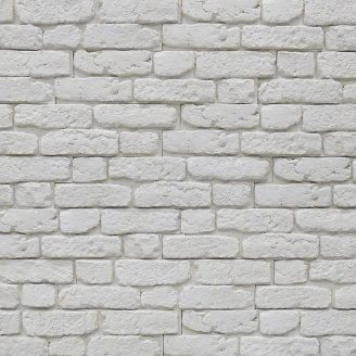 Декоративная плитка Stone Master City Brick Off-White гипс 526х137 белая