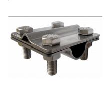 Затискач прут неіржавіюча сталь 16 мм смуга дріт 8 мм