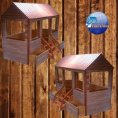 Детский домик-кроватка Теремок 2100x900x1800 мм