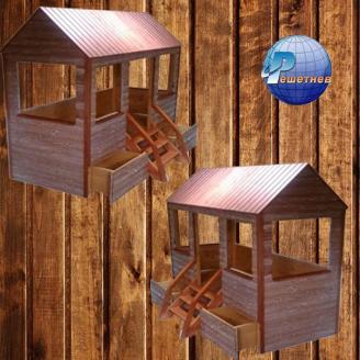 Дитячий будиночок-ліжечко Теремок 2100x900x1800 мм