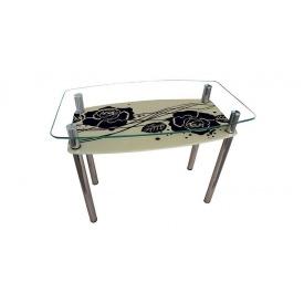 Стеклянный стол Sentenzo Камелия 1200х800х750 мм