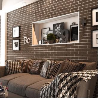 Керамічна плитка Golden Tile BrickStyle The Strand CRYSTAL 60х250 мм коричневий (087020)