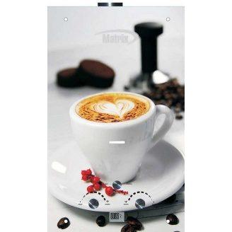 Газовий проточний водонагрівач Martix 20 кВт 10 л/хв принт кава скло