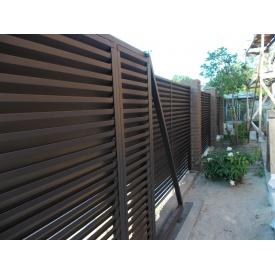 Ворота откатные из секций жалюзи с Z-образным профилем 0,5 мм