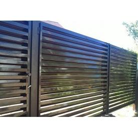 Ворота Пан-Паркан из секций жалюзи распашные 0,5 мм