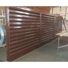 Ворота Pan-Паркан з секції жалюзі відкатні 0,5 мм