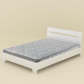 Кровать-140 Стиль Компанит 2133х1444х766 мм белая