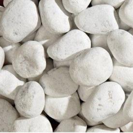 Галька мраморная Bianco Carrara 15-25 мм белая