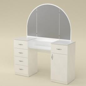 Туалетний столик Компаніт Трюмо-5 1400х1700х420 мм біле Німфея Альба